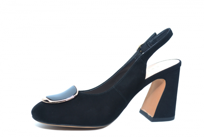Pantofi Dama Piele Naturala Negri Epica Catinca D02250 2
