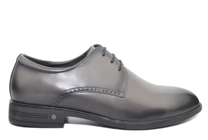Pantofi Barbati Piele Naturala Gri Ernest B00048 0