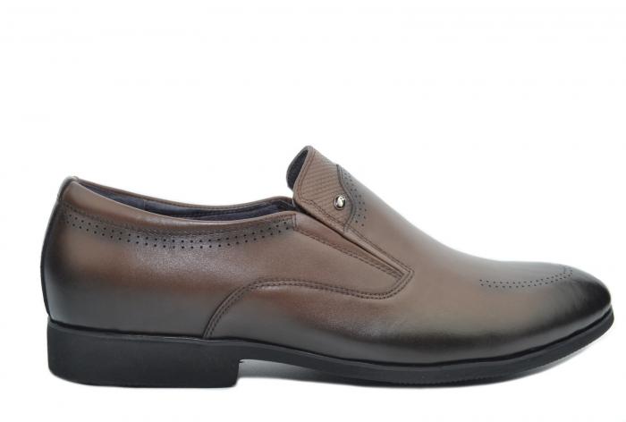 Pantofi Barbati Piele Naturala Maro Earl B00046 [0]