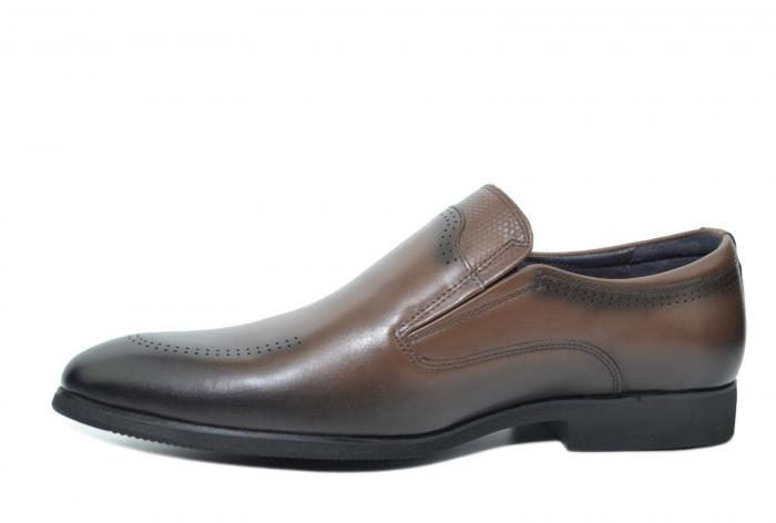 Pantofi Barbati Piele Naturala Maro Earl B00046 3