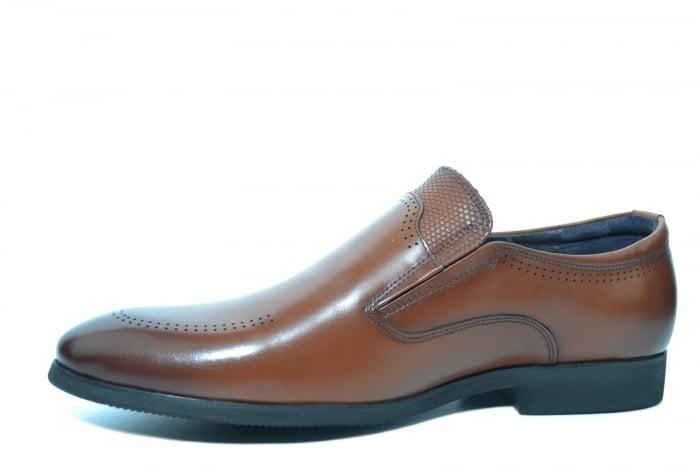 Pantofi Barbati Piele Naturala Maro Ermin B00047 [2]