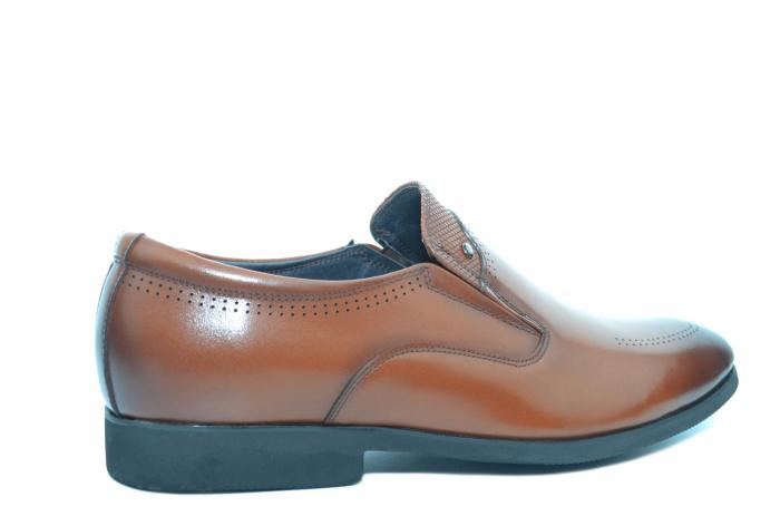 Pantofi Barbati Piele Naturala Maro Ermin B00047 3