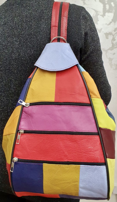 Rucsac Dama Piele Naturala Multicolor Seana G00374 1