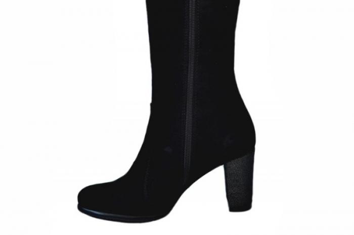 Cizme cu toc Dama Piele Naturala Negre Moda Prosper Simona D01544 5