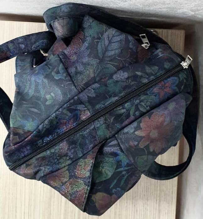 Rucsac Dama Piele Naturala Multicolor Clarisa G00360 8