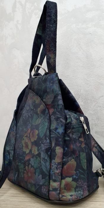 Rucsac Dama Piele Naturala Multicolor Clarisa G00360 4