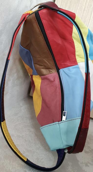 Rucsac Dama Piele Naturala Multicolor Seana G00369 6