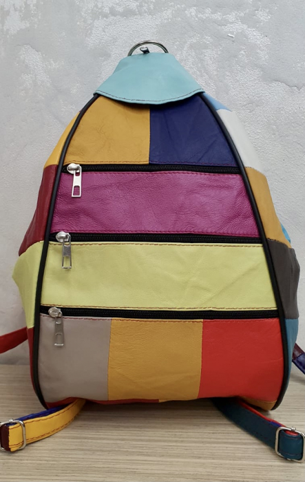 Rucsac Dama Piele Naturala Multicolor Seana G00369 2