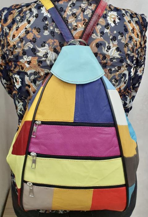 Rucsac Dama Piele Naturala Multicolor Seana G00369 1