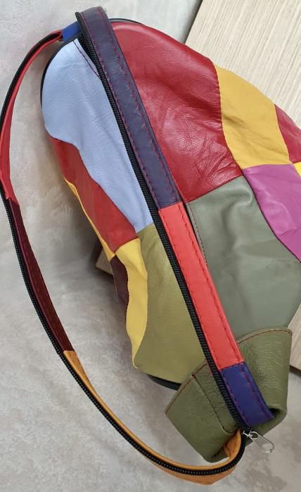 Rucsac Dama Piele Naturala Multicolor Seana G00370 6