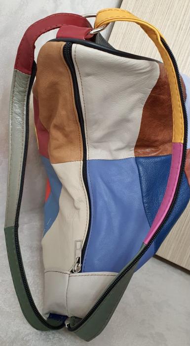 Rucsac Dama Piele Naturala Multicolor Seana G00372 6