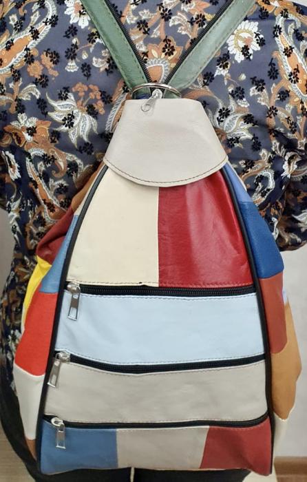 Rucsac Dama Piele Naturala Multicolor Seana G00372 1