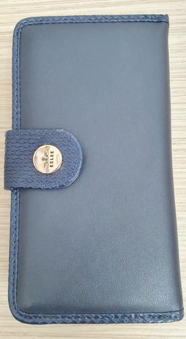 Portofel Dama Piele Bleumarin Satine P00011 0