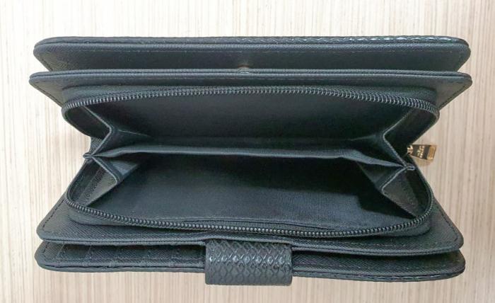 Portofel Dama Piele Negru Satine P00015 1