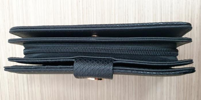 Portofel Dama Piele Negru Satine P00015 4