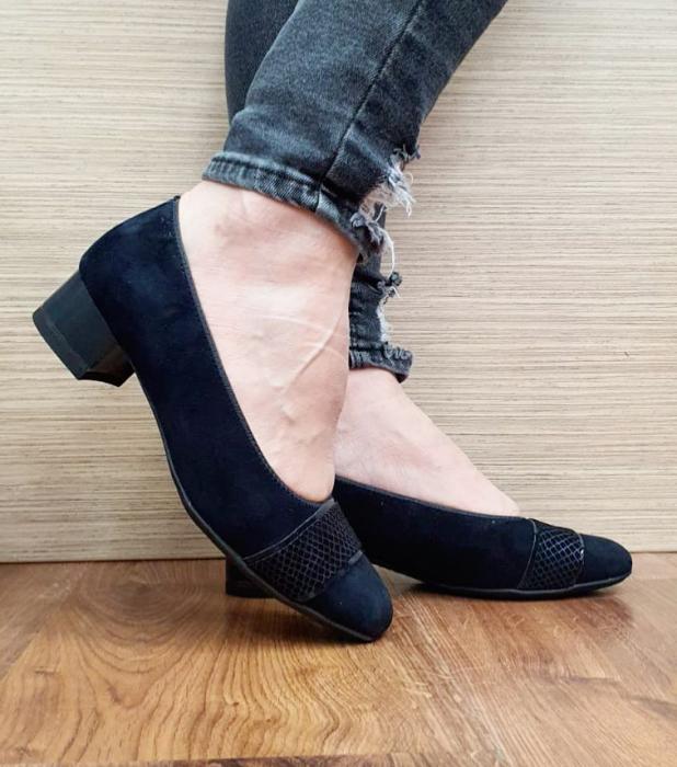 Pantofi cu toc Piele Naturala Bleumarin Ara Lizelle D02648 0