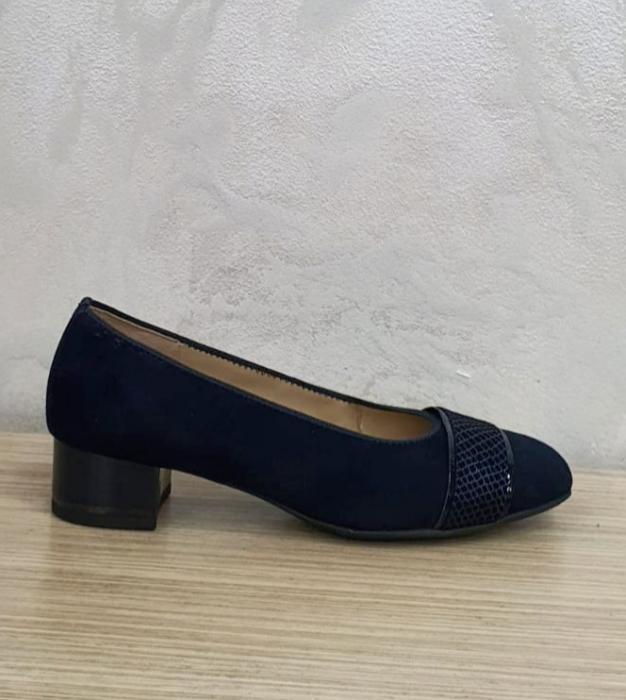 Pantofi cu toc Piele Naturala Bleumarin Ara Lizelle D02648 1