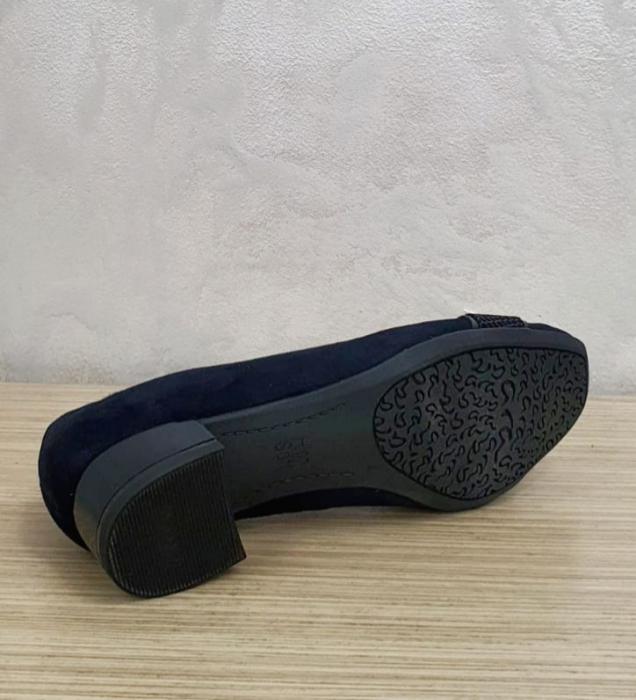 Pantofi cu toc Piele Naturala Bleumarin Ara Lizelle D02648 2