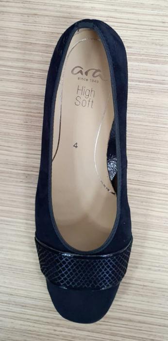 Pantofi cu toc Piele Naturala Bleumarin Ara Lizelle D02648 5