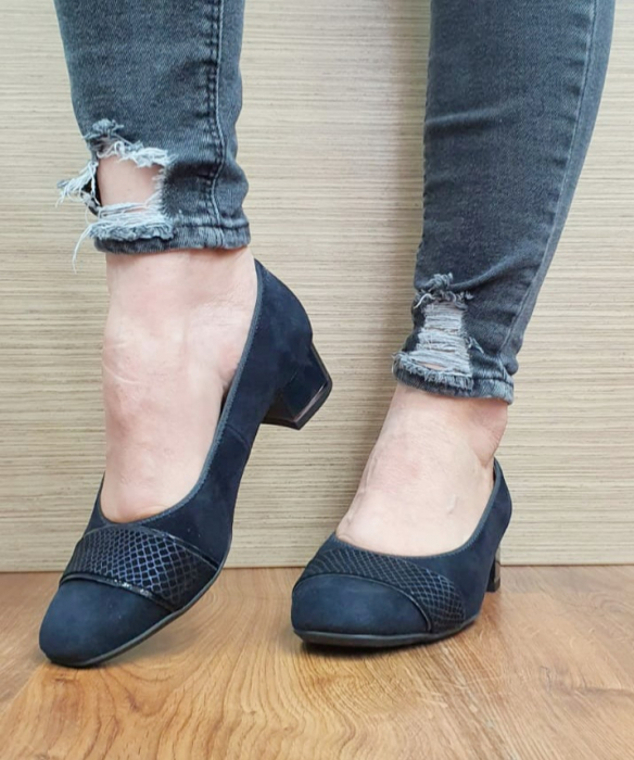 Pantofi cu toc Piele Naturala Bleumarin Ara Lizelle D02648 7