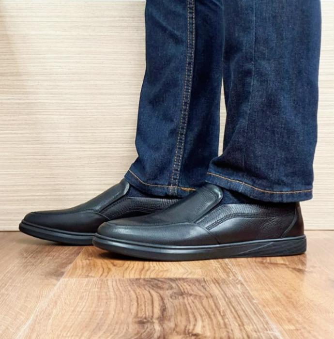 Pantofi Barbati Casual Piele Naturala Otter Negri Moise B00103 1