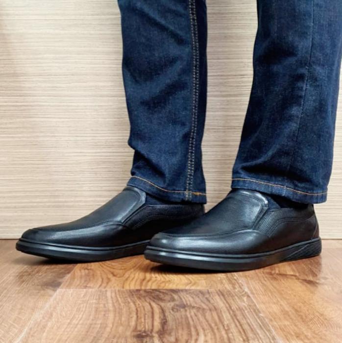 Pantofi Barbati Casual Piele Naturala Otter Negri Moise B00103 2