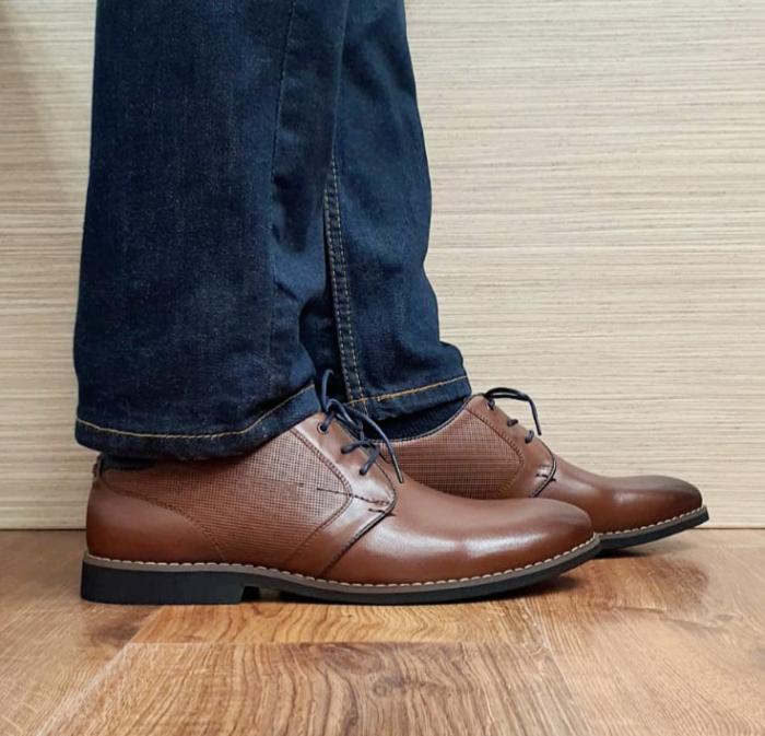 Pantofi Barbati Piele Naturala Otter Maro Narcis B00104 0