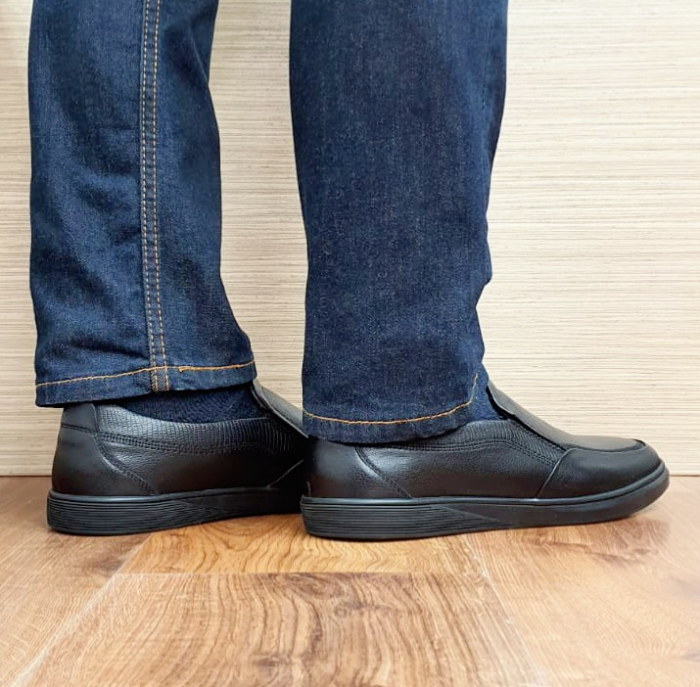 Pantofi Barbati Casual Piele Naturala Otter Negri Moise B00103 3