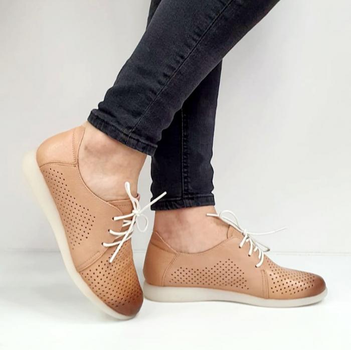 Pantofi Casual Piele Naturala Crem Zeal D02650 0