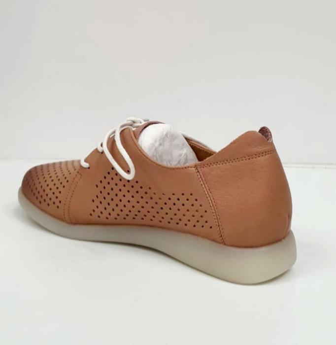 Pantofi Casual Piele Naturala Crem Zeal D02650 1