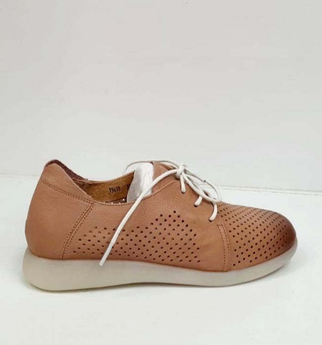 Pantofi Casual Piele Naturala Crem Zeal D02650 2