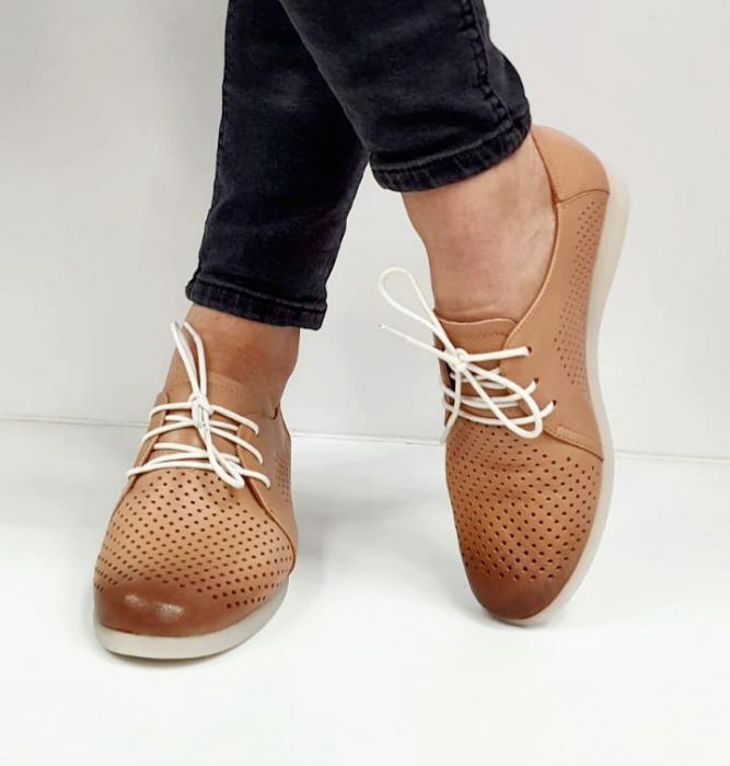 Pantofi Casual Piele Naturala Crem Zeal D02650 3