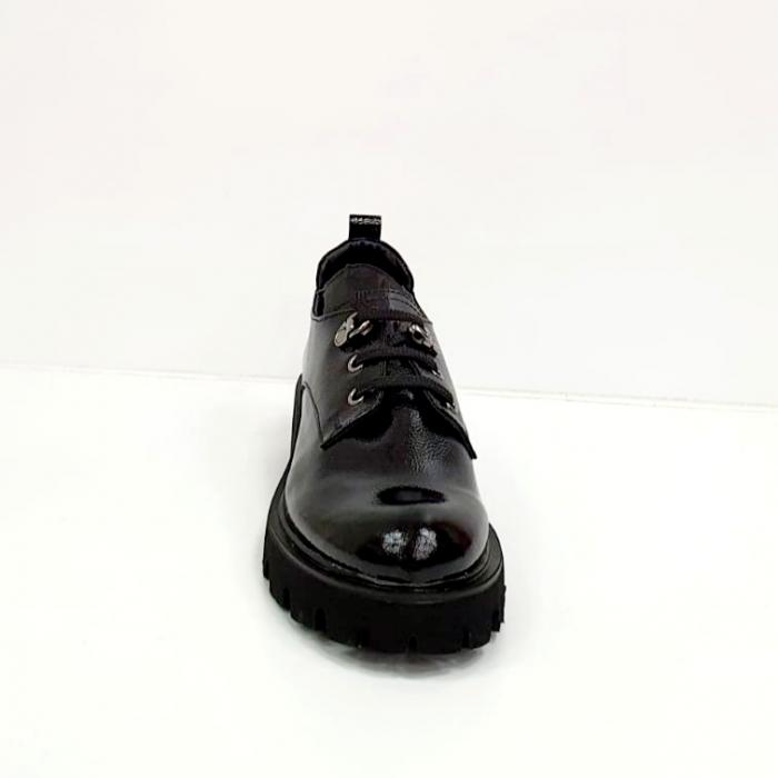 Pantofi Casual Piele Naturala Negri Amarna G02651 1