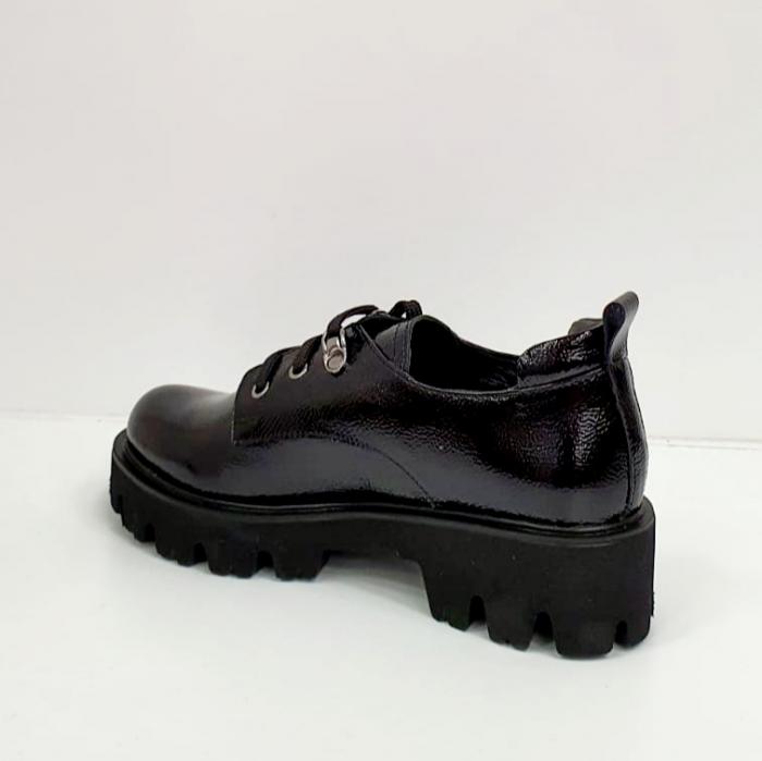 Pantofi Casual Piele Naturala Negri Amarna G02651 2