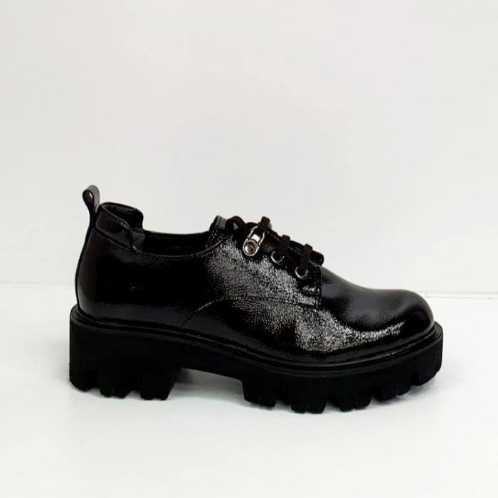 Pantofi Casual Piele Naturala Negri Amarna G02651 3