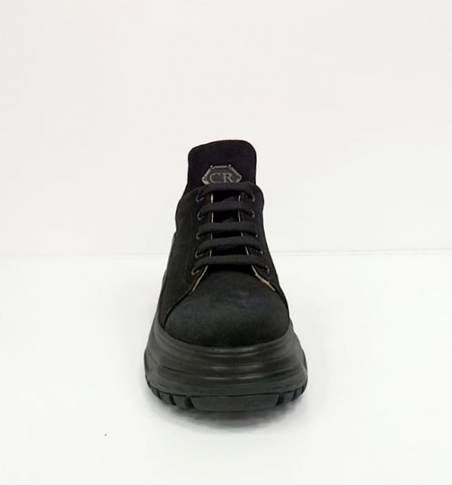 Pantofi Casual Piele Naturala Negri Nubia D02652 [1]