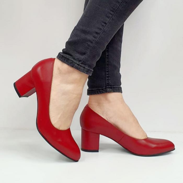Pantofi cu toc Piele Naturala Grena Beatriz G02654 1
