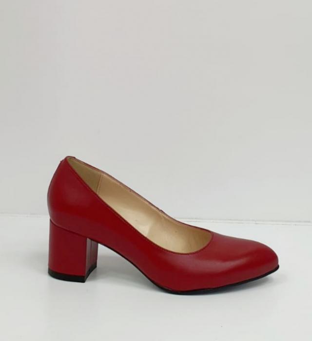 Pantofi cu toc Piele Naturala Grena Beatriz G02654 5