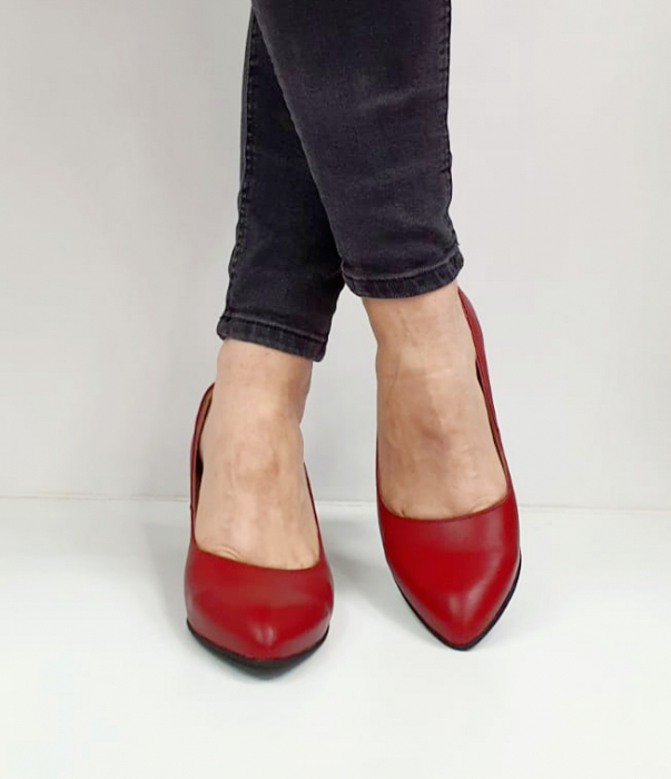 Pantofi cu toc Piele Naturala Grena Beatriz G02654 3