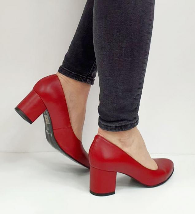 Pantofi cu toc Piele Naturala Grena Beatriz G02654 4