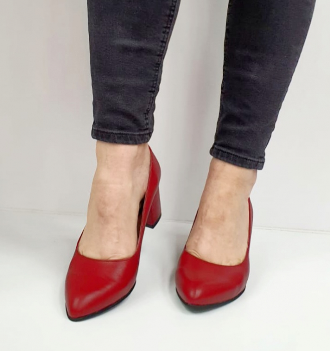 Pantofi cu toc Piele Naturala Grena Beatriz G02654 0