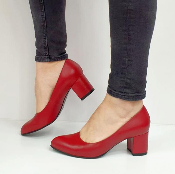 Pantofi cu toc Piele Naturala Grena Beatriz G02654 2