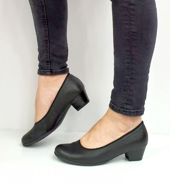 Pantofi cu toc Piele Naturala Negri Giovanna D02655 0