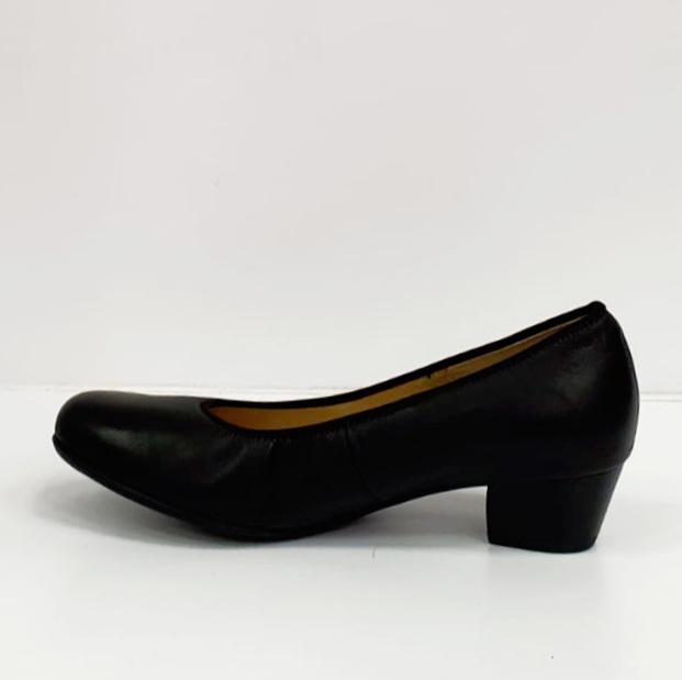Pantofi cu toc Piele Naturala Negri Giovanna D02655 2
