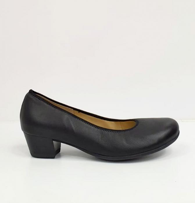 Pantofi cu toc Piele Naturala Negri Giovanna D02655 3