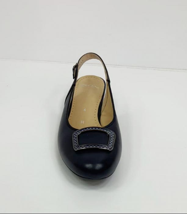 Pantofi Dama Piele Naturala Bleumarin Ara Karina D02656 8