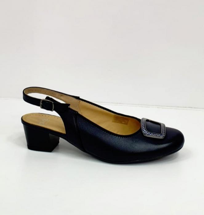 Pantofi Dama Piele Naturala Bleumarin Ara Karina D02656 5