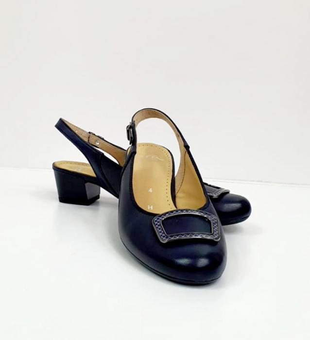 Pantofi Dama Piele Naturala Bleumarin Ara Karina D02656 7