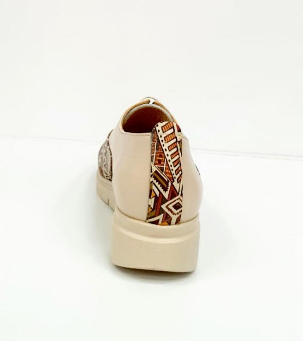 Pantofi Casual Piele Naturala Nude Brenda D02662 1