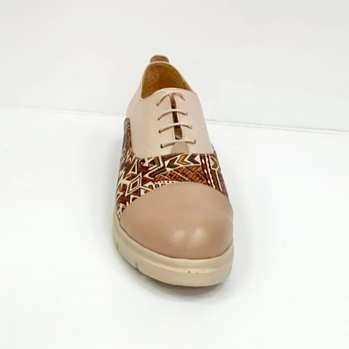 Pantofi Casual Piele Naturala Nude Brenda D02662 2